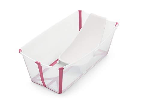 STOKKE® Flexi Bath® - Bañera bebé plegable con asiento para recién nacidos │ Piscina portátil para niños hasta...