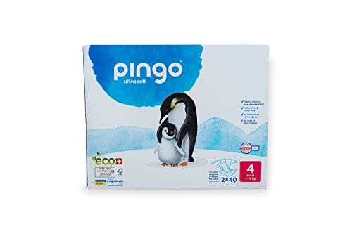 Pingo - Pañales Talla 4 Maxi - 2 paquetes de 40 unidades-7-18 kg -Pañales para bebé - Anti-alergénicos sin perfume -...