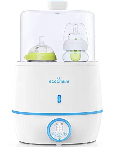 Calienta Biberones Eccomum 6 en 1 Esterilizador Biberones Calentador de Alimentos para bebés, con Pantalla LCD, Control...
