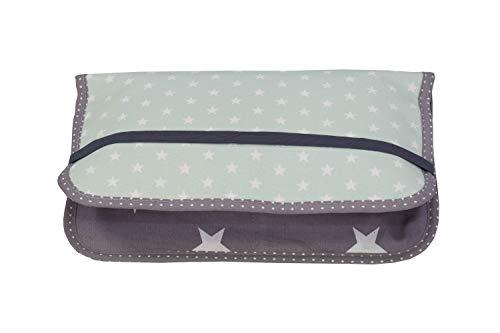 ULLENBOOM® bolsa para pañales menta gris (Fabricada en la UE) - bolso de pañales para hasta 3 pañales, toallitas...
