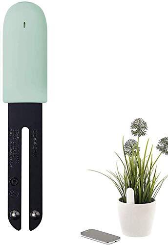 WANFEI Monitor Planta Inteligente, Medidor de Suelo Humedad Inteligente Plant Monitor Bluetooth 4 en 1 Probador de...