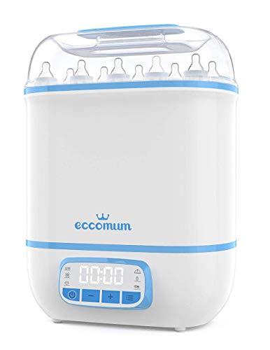 5 en 1Esterilizador de Biberones Eccomum 360 ° Inteligente Esterilizador y Secadora de Biberones, Filtro HEPA, Gran...