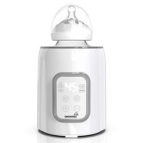 Calentador de biberones, esterilizador 5 en 1 con temporizador Calentador de alimentos para bebés y descongelador...