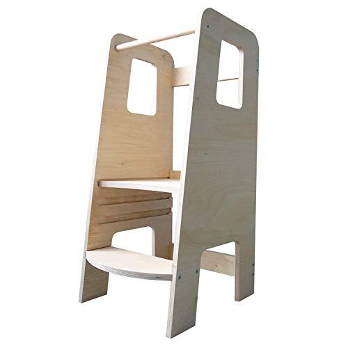 ully Natural by moblì® | Torre de Aprendizaje de madera natural hecha en Italia | Diseñada por educadores...