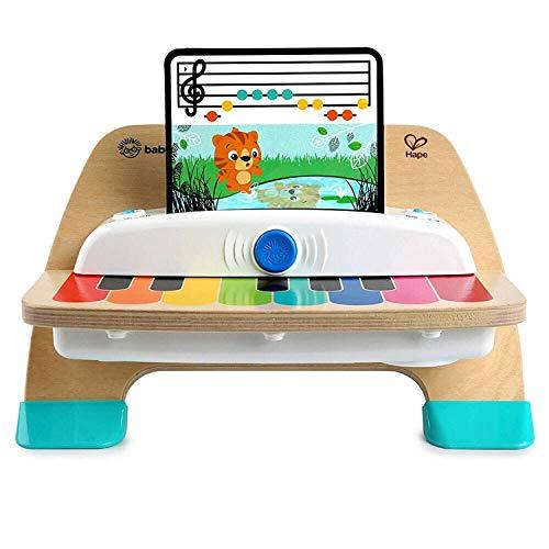Baby Einstein, Hape Magic Touch Piano, juguete musical de madera, incluye 3 partituras y 6 canciones, a partir de 12...
