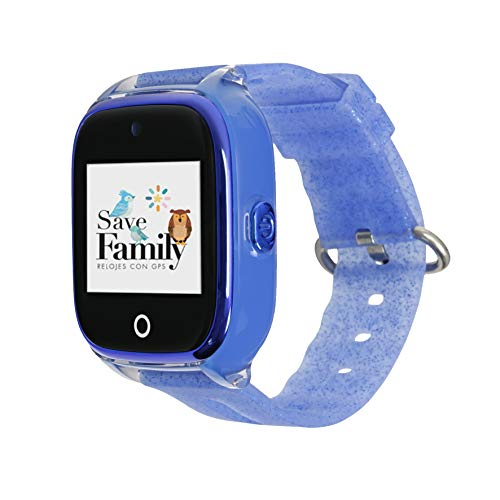 Reloj con GPS para niños SaveFamily Superior acuático con cámara. Smartwatch con botón SOS, Permite Llamadas y...