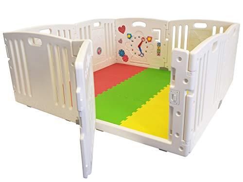 Nueva Venture All Star Playpen del bebé 8 Pc's XXL incluyendo el Panel de actividad divertida Esteras del piso cabido y...