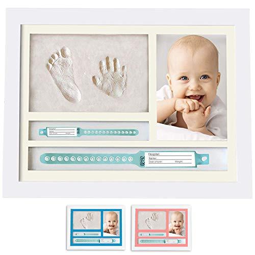MUBY, Set de marco de foto y huellas bebe | Regalos originales para bebes recien nacidos | Ideal Regalo Bebes | Puerta...