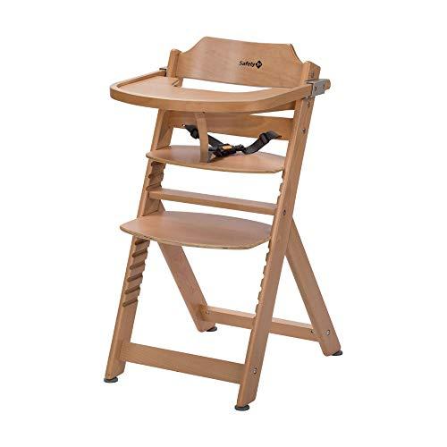 Safety 1st Timba Trona de madera con bandeja, Trona evolutiva para niños 6 meses - 10 años (30 kg), Regulable an...
