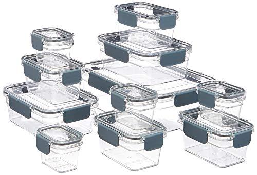 Amazon Basics – Recipiente hermético para alimentos de Tritan, 22 piezas
