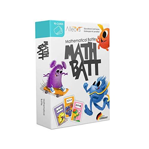ALLEOVS Juego Mental Batalla Matemática - Juego de Multiplicaciones Educativa - 90 Tarjetas para Tablas Aprendizaje -...