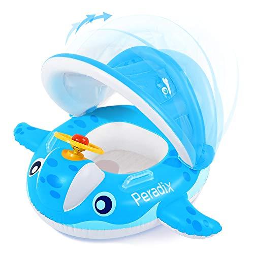 Peradix Flotador para Bebé con Asiento,Ideal para niños Piscina de natación,Barco Inflable Flotador para 6-36 Meses,...