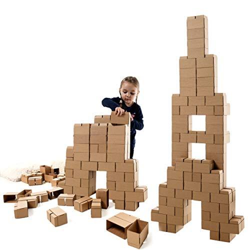 GIGI Bloks Bloques de Construcción Gigantes de Cartón Para Niños, Set de Bloques Infantiles de 96 Piezas XL...