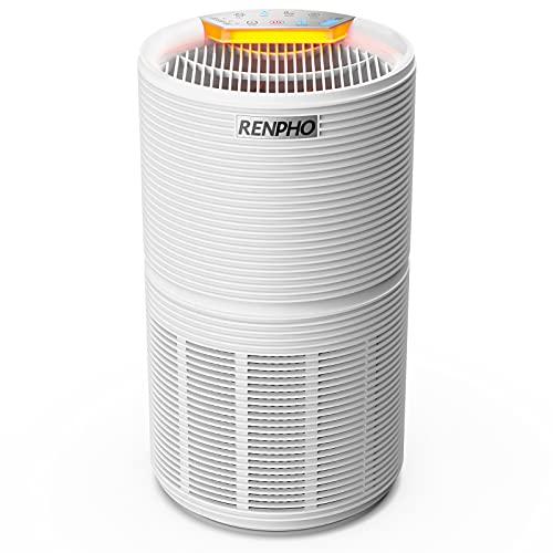 RENPHO Purificador de Aire para Hogar con H13 Filtro HEPA y Carbón Activado, CADR170m³/h, 3 Velocidades, Luz Nocturna,...