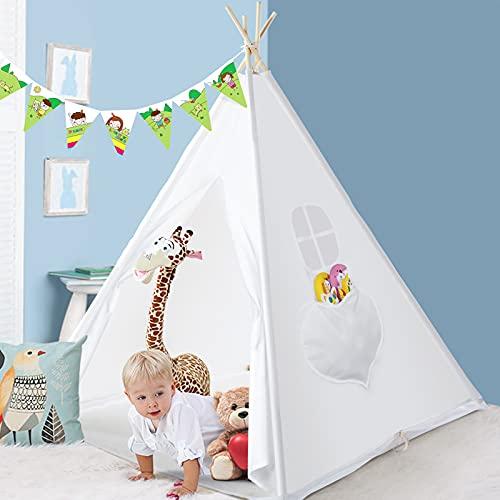Peradix Tipi Infantil Tienda, Tipi Indio para Niños con Cubierta de Suelo y Ventana, Interior / Exterior Tienda...
