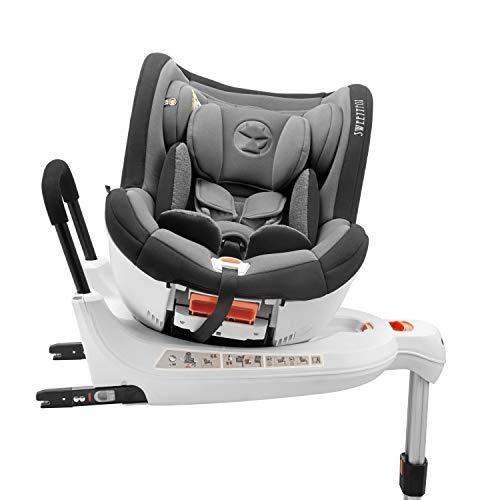 Silla de Coche Giratoria 0-18kg, 360º, Isofix, Grupo 0+/1, Normativa ECE R44/4 (Máxima Seguridad para Vuestro Hijo) -...