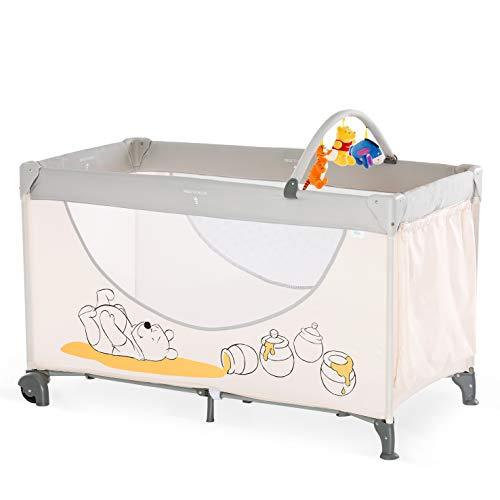 Hauck Dream N Play Go Plus - Cuna de viaje Disney, con ruedas, entrada lateral, base colchon, bolso de transporte, 120 x...
