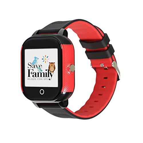 Reloj con GPS para niños Save Family Modelo Junior Acuático Negro. Smartwatch con botón SOS, Permite Llamadas y...