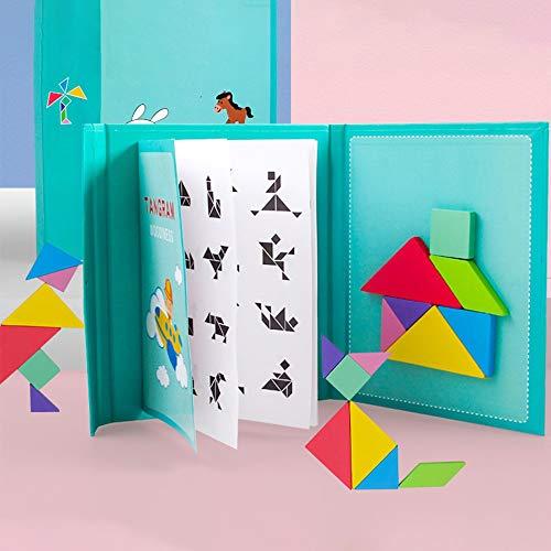 Tangram Magnetico,tangram Infantil Puzzle Juegos Educativos, Para Niños Niñas 96 Piezas