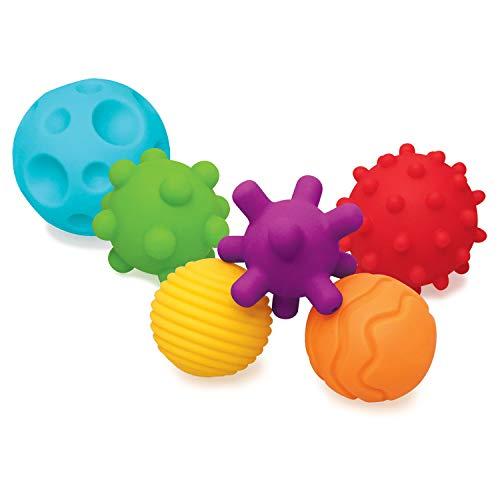 Infantino Textured Multi Ball - pelotas con texturas para la exploración sensorial y despertar su interés, a partir de...