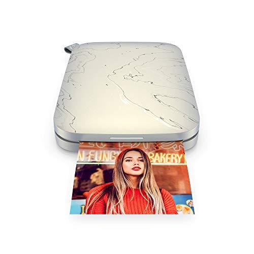 HP Sprocket Impresora fotográfica instantánea portátil de 5.8x8.7 cm, Imprima imágenes en papel adhesivo ZINK desde...