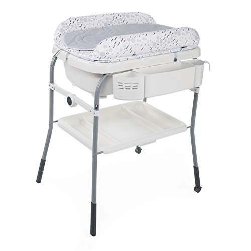 Chicco Cuddle&Bubble - Bañera y cambiador 2 en 1, plegable y compacta, peso 10 kg, color gris (Cool Grey)
