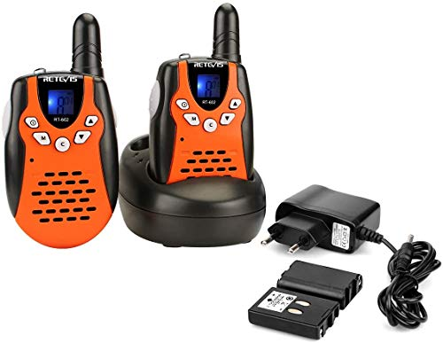 Retevis RT602 Walkie Talkie Niños Recargable PMR446 8 Canales Pantalla LCD VOX Linterna Regalo para Niños Walkie...
