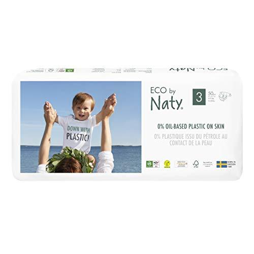 Eco By Naty 07330933187428 Pañal Ecológico Premium Hecho a Base de Fibras Vegetales. 0% Plásticos Derivados del...