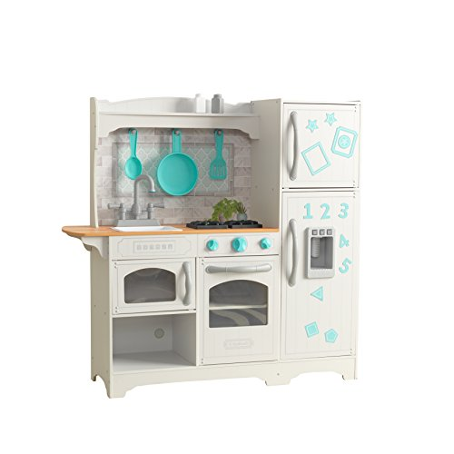 KidKraft 53424 Cocina de juguete Countryside de madera para niños con frigorífico magnético, dispensador de hielo de...