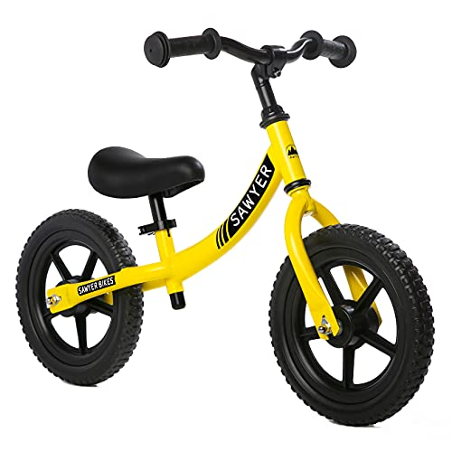 Sawyer - Bicicleta Sin Pedales Ultraligera - Niños 2, 3, 4 y 5 años (Amarillo)