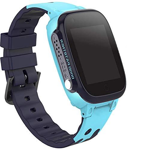 Niños Smartwatch Impermeable, Reloj inteligente Phone con LBS Tracker SOS Chat de voz Cámara Despertador Juego...