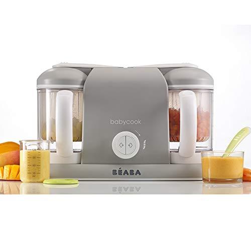 BÉABA Babycook Duo, Robot de cocina infantil 4 en 1, Tritura, cocina y cuece al vapor, Rápido en 15 minutos, Comida...