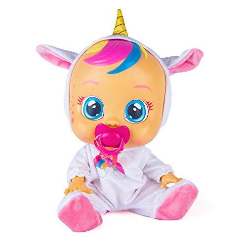 Bebés Llorones Fantasy Dreamy Unicornio - Muñeca interactiva que llora de verdad con chupete y pijama brillante de...