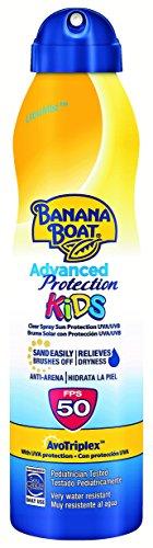 Banana Boat KIDS Advanced Protection - Crema solar en spray para niños que hidrata la piel y la protege de los rayos...