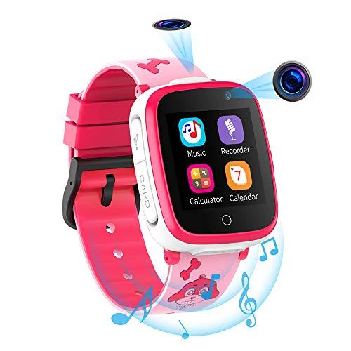 Reloj Inteligente para Niños de 2 Cámaras con Juegos de Música - 1.54 Pantalla Táctil en Color SOS Relojes...