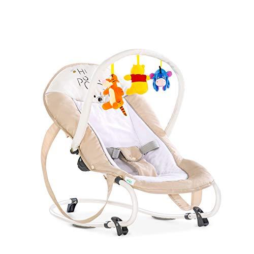 Hauck Bungee Deluxe hamacas bebes, mecedora con movimiento, respaldo ajustable, sistema de arnes, arco de juegos, de 0...