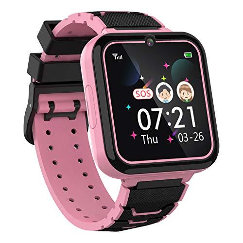 Moweallarge Teléfono Smartwatch para Niños Niñas - Pantalla Táctil de 1.57'' con Llamada Telefónica SOS Juegos...