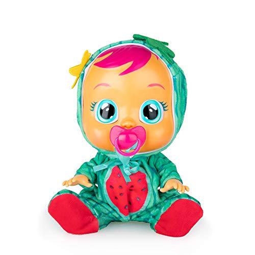 Bebés Llorones Tutti Frutti Mel - Muñeca interactiva que llora de verdad con chupete y pijama de Sandía con olor a...