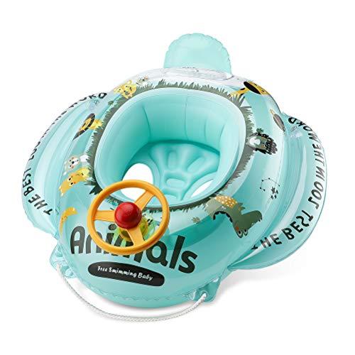 Free Swimming Baby Flotador inflable para niños de 6 a 36 meses (verde)