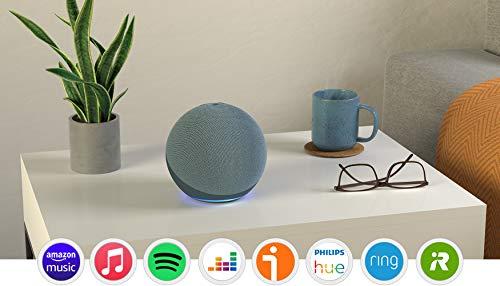 Echo (4.ª generación) | Sonido de alta calidad, controlador de Hogar digital integrado y Alexa | Azul grisáceo