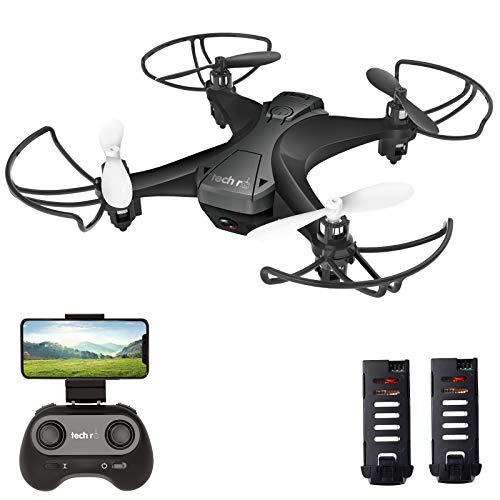tech rc Mini Drone con Cámara, App WiFi FPV, Modo sin Cabeza, Despegue con Una Tecla y Aterrizaje por Gravedad RTF,...