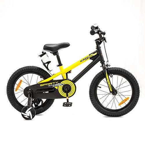 NB Parts - Bicicleta infantil para niños y niñas, BMX, a partir de 3 años, 12 pulgadas / 16 pulgadas, color amarillo...
