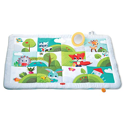 Tiny Love Super Mat Alfombra bebé alcochada, Gimnasio Manta de juegos gigante 100 x 150 cm, Alfombra gateo bebé con 8...
