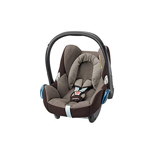 Maxi-Cosi CabrioFix, Silla de auto, reclinable y seguro para bebé, 0-12 meses, 0-13 kg, Black Raven (river blue)