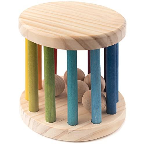 Rodari Madera Arcoiris Grande, Juguete Montessori para Bebé, Regalo Recién Nacido