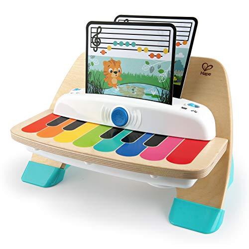Baby Einstein, Hape Magic Touch Piano, juguete musical de madera, incluye 3 partituras y 6 canciones, a partir de 6...