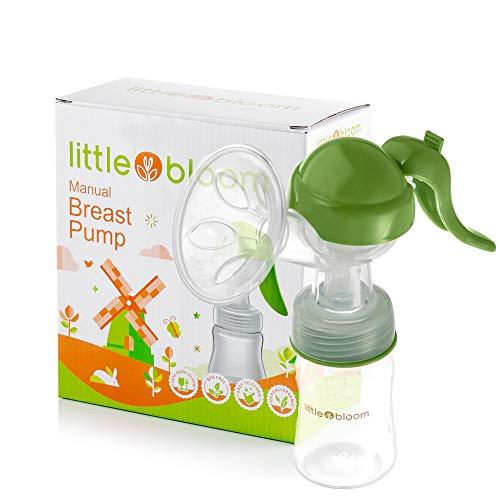 Extractor de leche de Silicona Littlebloom – Extractor leche materna 100% libre de BPA Manos Libres con Diseño...