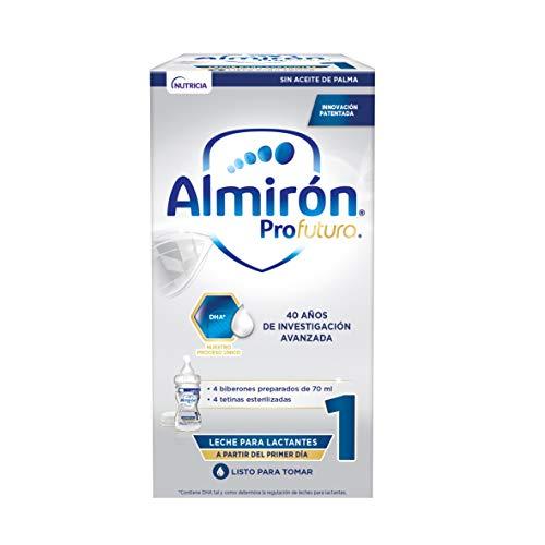 Almirón Profutura 1 Minibiberones, Leche de Inicio Bebé desde el Primer Día, 4x70ml, 280ml