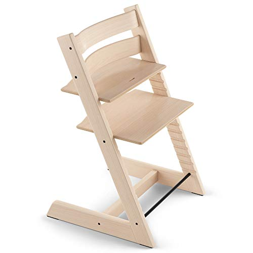 TRIPP TRAPP® Silla evolutiva de madera   Silla de altura regulable perfecta para bebés, niños y adultos   Tipo de...