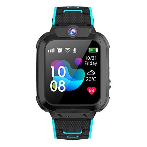 Winnes GPS Reloj Smartwatch para Niños, Impermeable GPS Rastreador Reloj Anti-Perdida de Teléfonos SOS, - Regalo para...